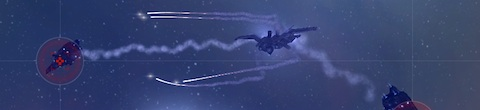 Golem launching torpedoes at a Sleeper battleship